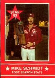 1983 Star Schmidt #3 Mike Schmidt/Post Season Stats Near (Mike Schmidt Stats)