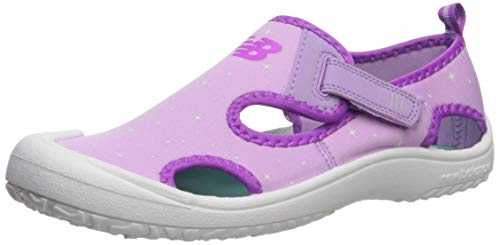 New Balance Kid's Cruiser Sandal Sport, White/Purple P3 M US Little