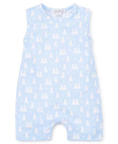 Kissy Kissy Baby-Boys Infant Cushy Cottontails Blue Print Sleeveless Short Playsuit-Light Blue-0-3 Months