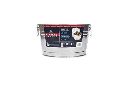 Behrens TV205351 0GS Galvanized Steel Round Tub, 5