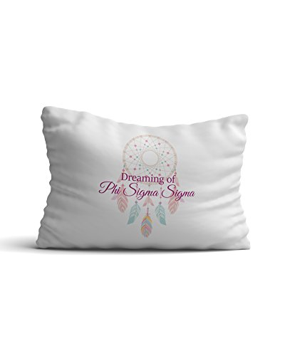 Theta Sigma Phi (Phi Sigma Sigma Sorority Dream Catcher Pillowcase 300 Thread Count 100% Cotton Phi Sig)
