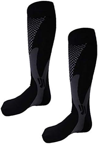 WINOMO Unisex Compression Socks快適な通気性のあるソックスソックスユニセックスマジックブランド在庫ファッションカジュアルクルーソックス - サイズXXL(黒)