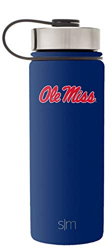Simple Modern 18oz Summit Water Bottle - Ole Miss Rebels Vacuum Insulated 18/8 Stainless Steel Travel Mug - Ole Miss