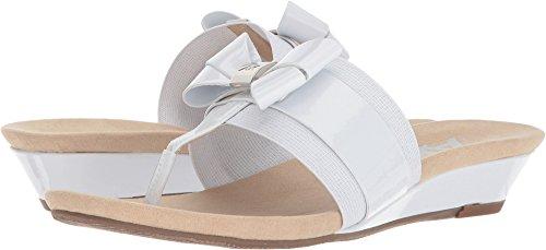 Anne Klein Sandale Impeccable Femme Sandale Blanc / Argent Synthétique