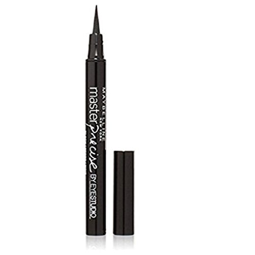 Maybelline EyeStudio Master Precise Liquid Eyeliner Ink Pen, Black [110], 1 ea (Pack of 2)