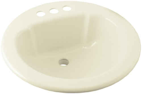 STERLING 75020140-96 19-Inch by 19-Inch Self Rimming Round Lavatory, Biscuit