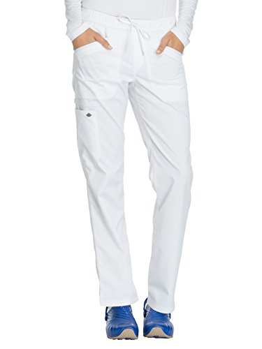 Dickies Girl Skinny Jeans - Dickies Essence Mid Rise Straight Leg Drawstring Pant Scrub Bottoms White X-Large Petite