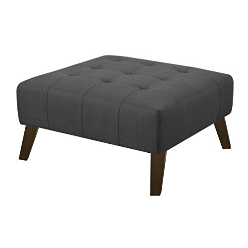 Emerald Home Furnishings U3216M-22-03 Binetti Ottoman Standard Charcoal