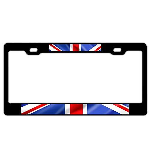 British Standard Flag - Hopes's Universal License Plate Frame Aluminum Metal, Black Humor Funny License Plate Cover, 2 Holes with Screws Car Tag Holder for US Standard - British Flag