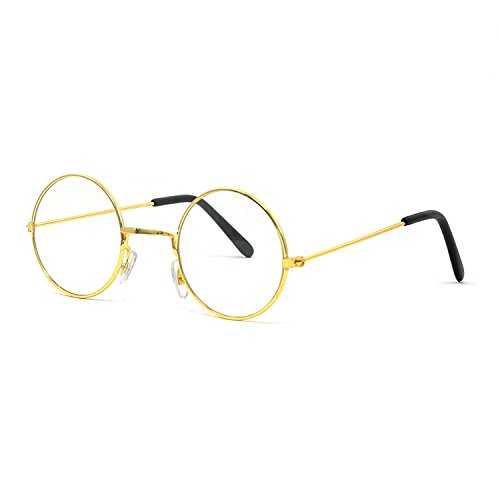 Big Mo's Toys Gold Rimmed Round Costume Glasses - 1 Pair