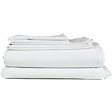 CGK Unlimited Full Size Sheet Set - 6 Piece Set - Hotel Luxury Bed Sheets - Extra Soft - Deep Pockets - Easy Fit - Breathable & Cooling Sheets - Wrinkle Free - White Bed Sheets