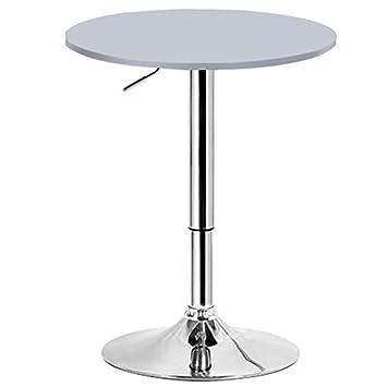 Woltu Bt02sb Table De Bar En Mdf Avec Pied Table Ronde Hauteur