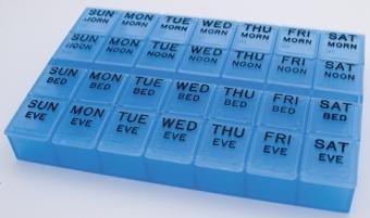 Blue MediPlanner II - Medicine Organizer