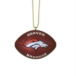 (Denver Broncos Resin Football Ornament)