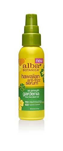 Alba Leave In Conditioner - Alba Botanica Go Smooth Gardenia Hawaiian Anti-Frizz Serum, 2 oz.