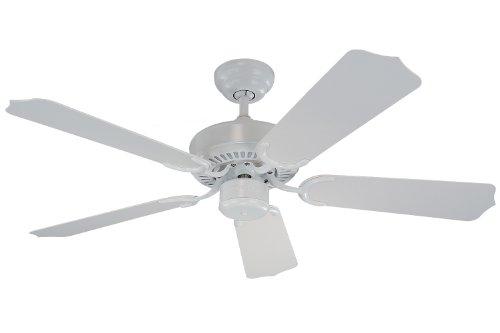42' White Ceiling Fan (Monte Carlo 5WF42WH Weatherford II Outdoor Ceiling Fan, 42'', White)