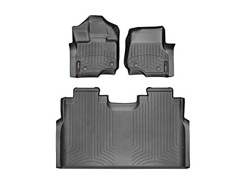 WeatherTech Custom Fit FloorLiner for Ford F-150-1st & 2nd Row (Black)