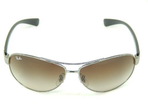New Ray Ban RB3386 004/13 Gunmetal/Brown Gradient 63mm - Ray Rb3386 Sunglasses Ban