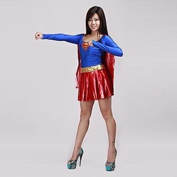 Superman Supergirl sexy mujeres adulto disfraz de Halloween (1 ...
