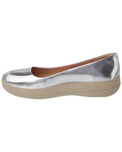 Fitflop F-sporty Ballerina Leather - Zapatillas de ballet Mujer Espejo De Plata