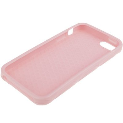 "iPhone 5 / 5S Hülle / Case aus Silikon in pink / rosa im ""Hexagon-Style"" -Original nur von THESMARTGUARD-"