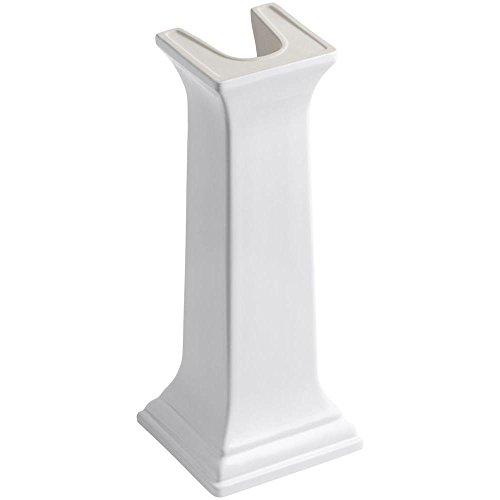 Memoirs White Pedestal (KOHLER K-2267-0 Memoirs Bathroom Sink Pedestal, White)