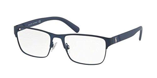 Polo Men's PH1175 Eyeglasses Matte Navy Blue 56mm