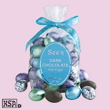 See's Candies 8 oz. Dark Chocolate Foil Eggs