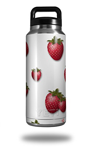 - WraptorSkinz Skin Decal Wrap for Yeti Rambler Bottle 36oz Strawberries on White (YETI NOT INCLUDED)