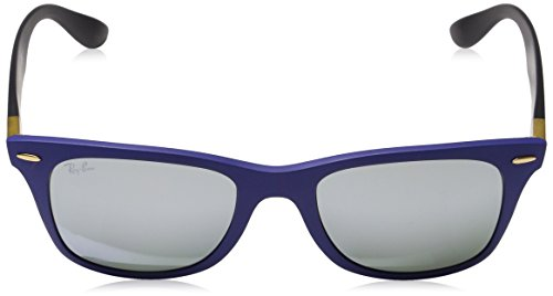 52 Ray Lunette Blue Rb4195 Wayfarer Soleil De greyflash Mm ban Bleu Liteforce matte q0wprqA
