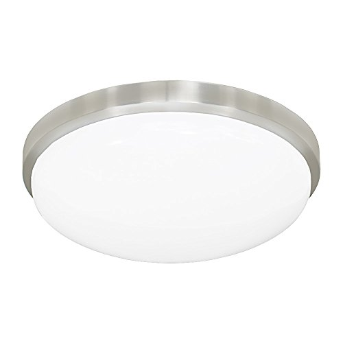 M-30-BA 3000K Round LED Ceiling Fixture/ADA Sconce with Acrylic Shade, Aluminum, 13