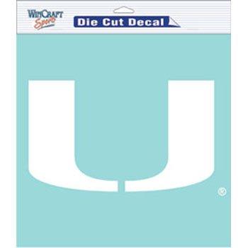 - WinCraft Miami Hurricanes White Die Cut Decal