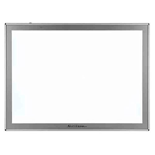 Acurit Thin Line LED Light Box Professional Solid Aluminum LED Tracing Tablet Dimmable LED Light Pad Optical Quality Surface Artist Drawing Sketching Animation Designing Stenciling Tracing Area 17x24'' by Acurit