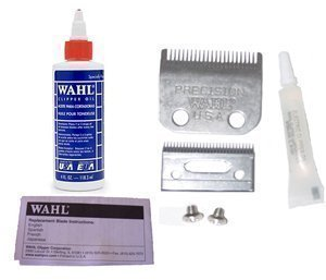 Hair Clipper Blade - Wahl Replacement Blade Set #1045 for Home Clippers * Plus 4oz Oil