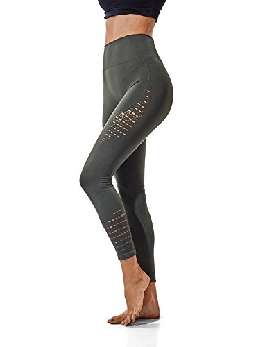 - SEASUM Women's High Waist Active Leggings Slimming Seamless Compression Fit Pants Workout Tights with Mesh S