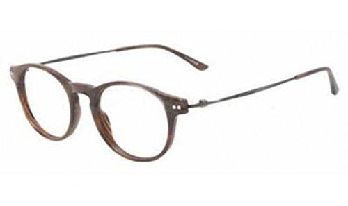 Giorgio Armani OAR7010 Striped Brown 5023 Eyeglasses - Round Eyeglasses Giorgio Armani