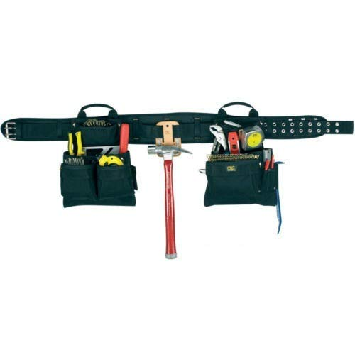 CLC Custom Leathercraft 5608 4 Piece Carpenter's Combo Tool Belt, Double-Tongue Steel Roller Buckle, ()