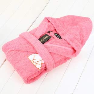 rose grand WILRND Home Peignoirs pour Enfants en Coton, garçons et Filles, Robes en éponge, Peignoirs en Coton, Pyjama de Bain rembourré, Bonnets brodés (Couleur   rose, Taille   L)