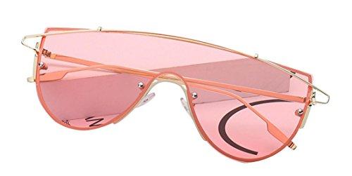 de JYR polarizadas ultravioleta Frame y para Gold Aviador Anti para Pink hombre mujer de sol uso Gafas Tide Gafas de sol Deep Gafas personal 47qxAwC8dA