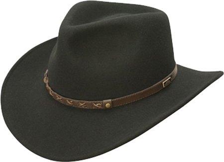 ee3d3be39 Conner Hats Men's Crossroads Crushable Wool Hat