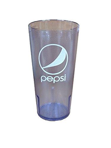 24 oz. Blue Tumbler Pepsi, Pepsi by GET 6624-BP-EC (Pack of 4)