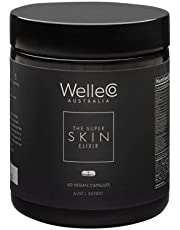 WelleCo | The Super Skin Elixir | Vegan | 60 Capsules | Supports Collagen Formation, Skin Healing, Firmness and Elasticity