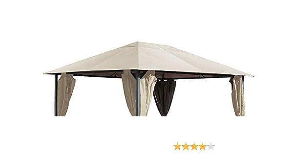 Quick Star - Techo de repuesto para cenador de jardín, 250 g, 3 x 4 m, color arena: Amazon.es: Jardín