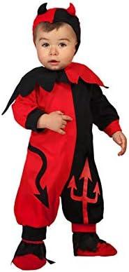 Atosa-61196 Atosa-61196-Disfraz Demonio-Bebé + 24 Meses-Niño-Rojo, color (61196) , color/modelo surtido