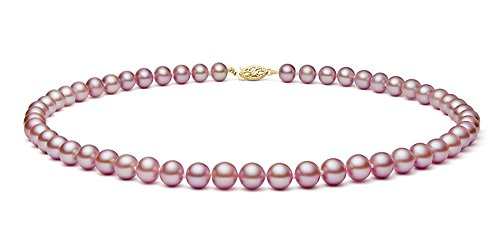 14k-Yellow-Gold-Pink-Freshwater-Cultured-Pearl-Necklace-AAA-Quality-65-7mm