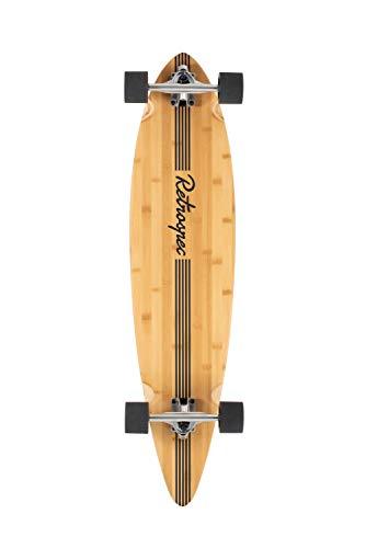 (Retrospec Zed Longboard Pintail Bamboo Long Board Skateboard Cruiser Black Pipeline, One)
