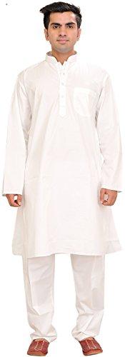 Exotic India Pure White Kurta Pajama Size 46