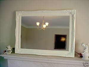 Enjoyable Cream Extra Large Shabby Chic Antique Style Mirror 30 X Interior Design Ideas Gentotryabchikinfo