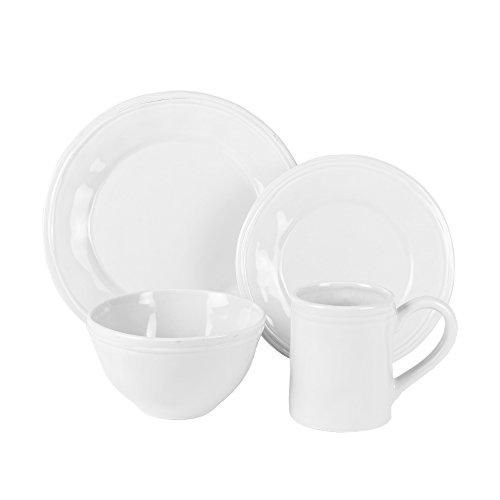 American Atelier 16 Piece Taylor Dinnerware Set, White