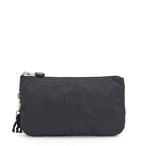 Kipling - Creativity L, Monederos Mujer, Gris (Night Grey), 18.5x11x1.5 cm (B x HT)